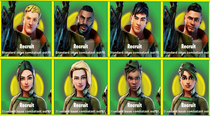 8 Different Fortnite Default Skin Names